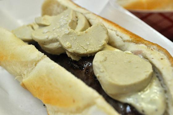 Foie-Gras-and-Sauternes-Duck-Sausage-with-Truffle-Aioli-Foie-Gras-Mousse-and-Fleur-de-Sel